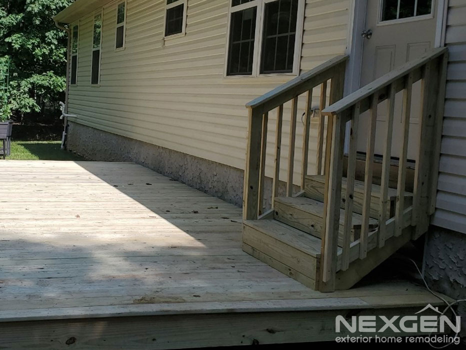 Pressure Treated Deck Replacement in Franklinville