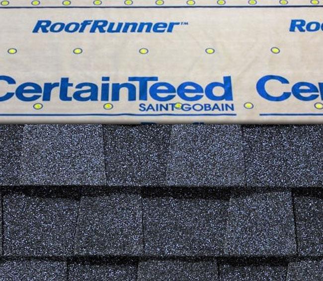 CertainTeed's® RoofRunner® Synthetic Underlayment