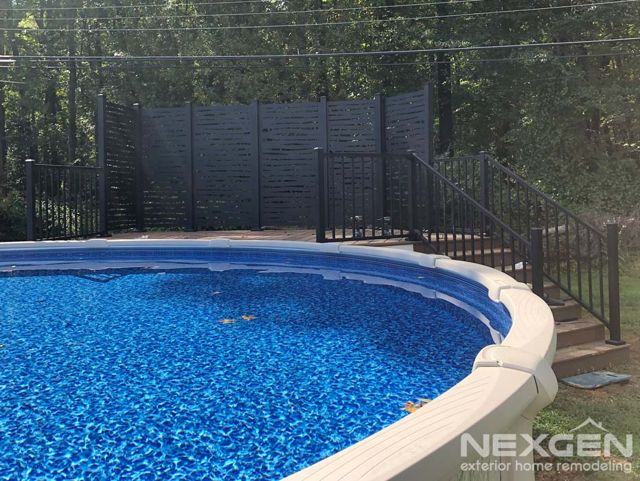 Pool Deck Privacy Fence